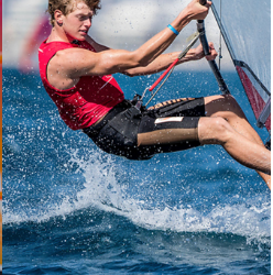 RS:X-windsurfer Luc Schmitz kwalificeert zich voor Youth Sailing World Championships 2019