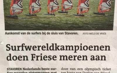 Surfwereldkampioenen doen Friese meren aan